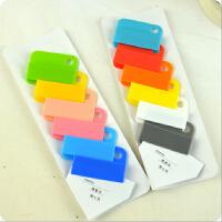 巨门糖果色分类文件夹彩色随意夹创意票据夹食品袋密封夹文件页夹书夹