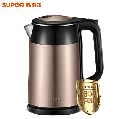 苏泊尔(SUPOR)电热水壶 自动断电1.7L大容量玻璃开水壶电茶壶不锈钢烧水器 SW-17E29A 高硼硅玻璃 健康饮水 蓝光体验