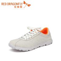 红蜻蜓潮流时尚女鞋休闲英伦风浅口女平跟百搭单鞋