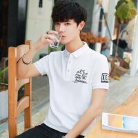 2018夏季翻领男式polo衫学生韩版潮流休闲上衣体恤男短袖T恤