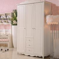 韩式板式衣柜卧室家具三门带抽屉衣柜白色简易大衣柜