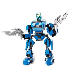 【当当自营】小鲁班星际变形机甲系列儿童益智拼装积木玩具 究极机甲-波塞冬M38-B0215