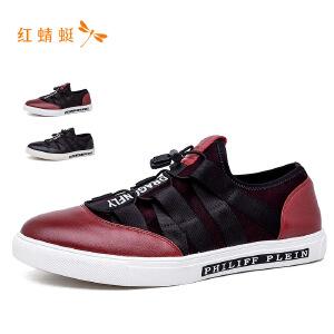 红蜻蜓圆头个性潮流时尚低跟舒适男单鞋