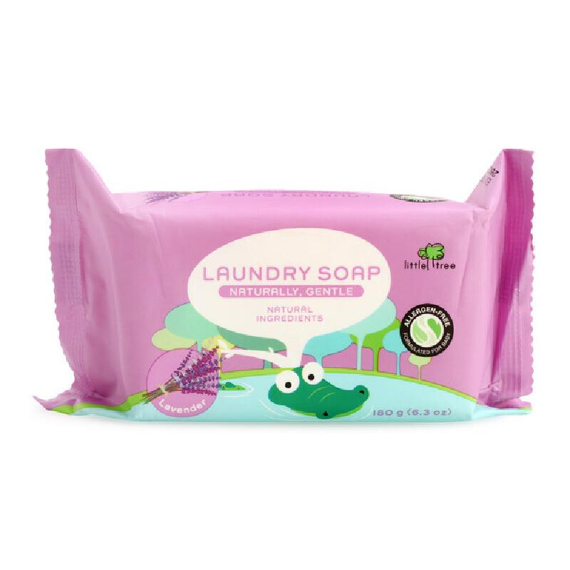 英国品牌小树苗 多效倍洁宝宝婴儿洗衣皂 BB皂 180g 舒眠薫衣草味