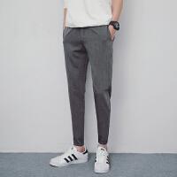 的西装裤男夏季2018新款韩版修身小脚裤学生休闲长裤子潮