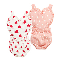 吊带背心婴儿三角哈衣春季宝宝薄款01岁5个月季春装外出服