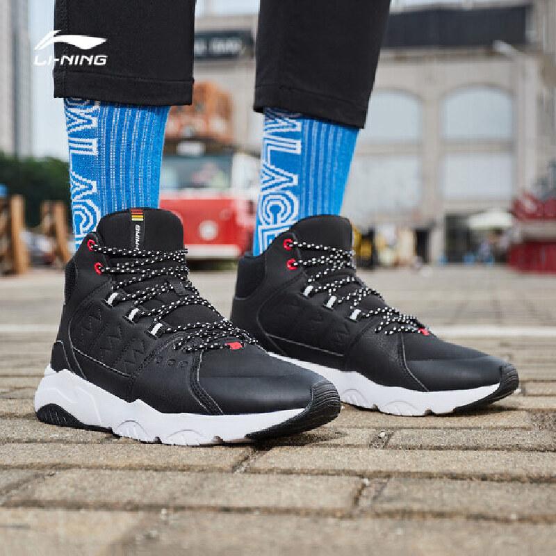李宁休闲鞋男鞋新款LN Pioneer高帮运动鞋AGCN125 专柜新款 耐磨防滑