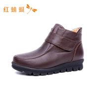 红蜻蜓女棉鞋冬季加绒女短靴子