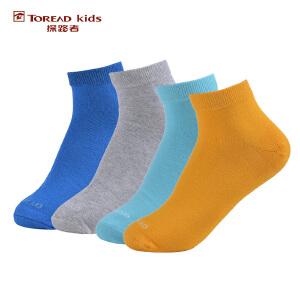 探路者TOREAD品牌童装 户外运动 春装秋装男童低帮袜(4双包)儿童袜子