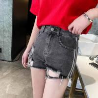 新款春夏季破洞高腰牛仔短裤女宽松韩版女裤发显瘦