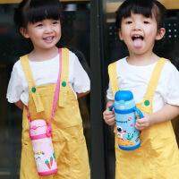 儿童保温杯带吸管奶嘴两用男女学生水杯304不锈钢婴幼儿宝宝杯子 水杯