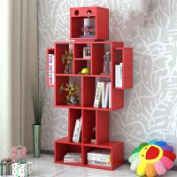 物有物语 置物架 创意彩色卡通儿童书架落地杂志书柜玩具收纳架