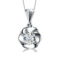 梦 梵雅 钻石项链 18K金30分钻石吊坠-呵护