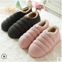 棉拖鞋包跟女冬季情侣保暖防滑厚底可爱月子鞋韩国家用居家拖鞋男