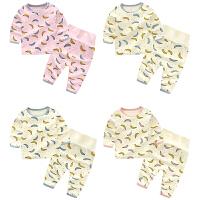 婴儿套装女宝宝7个月新生儿春秋季长袖套头两件睡衣家居服