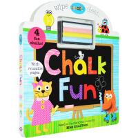 【英文原版】Schoolies: Chalk Fun 快乐小学黑板粉笔图画书写书 英国学前教育奖