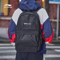 李宁双肩包男包女包2018新款运动时尚系列书包学生运动包ABSN278