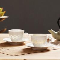 Evergreen爱屋格林优雅玲珑瓷杯盘套装马克杯礼盒手工景德镇陶瓷茶具茶杯