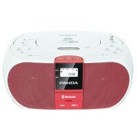 【当当自营】 熊猫/PANDA CD-530蓝牙/CD/VCD/DVD/U盘/TF卡全能复读变速DVD播放机 红色