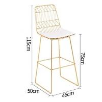 实木吧台桌铁艺吧桌高脚桌酒吧家用靠墙长条桌大理石餐桌椅 120*40*105 大理石台面