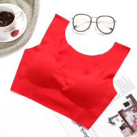 日本新款一片式无痕无钢圈睡眠文胸内衣性感运动瑜伽聚拢女士文胸 S/建议100斤以下 32=70