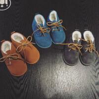 儿童雪地靴男童婴幼儿靴女童靴子冬17新款加厚学步鞋宝宝棉鞋短靴