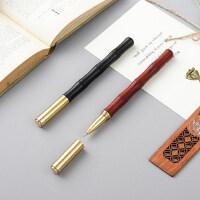 红木质签字笔 原木制高档金属中性笔 商务男女士高端笔礼物学生用