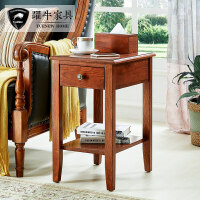 美式实木现代简约沙发边几边柜客厅储物柜北欧小茶几床头柜整装
