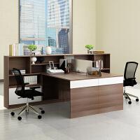 财务室单人办公桌简约现代办公家具24人员工卡位四人职员桌椅组合