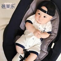 婴儿连体衣服新生儿宝宝季装01岁薄款短袖平角运动哈衣新年