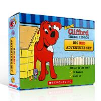 顺丰发货 英文原版 Clifford The Big Red Dog Big Red Adventure Set with CD 大红狗10本盒装(附CD)3-6岁低幼儿童启蒙英语绘本图画书