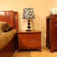 北欧风格家具新中式家具 全实木床头柜 海棠木床头柜储物柜