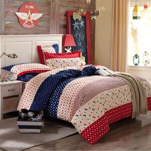 OLYI 纯棉床上用品四件套 全棉斜纹活性印花床单式家纺四件套 亲亲宝贝床品四件套 床上四件套