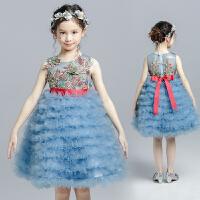 女童公主裙礼服花童礼服蛋糕裙儿童演出服童装蓬蓬裙女孩婚纱夏季