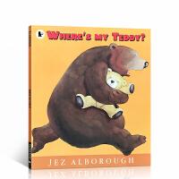 廖彩杏书单 Where's My Teddy 我的泰迪熊去哪了? 英文原版绘本 Jez Alborough 英文原版韵文 送音频 平装大开本