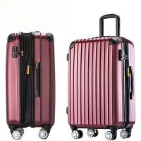 新款旅行箱女拉杆箱万向轮行李箱24寸男登机箱20寸硬箱子28寸防刮 酒红色 【拉丝款】 28寸 【大号托运箱】