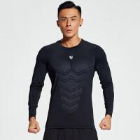运动上衣男士长袖体恤户外速干透气吸汗薄款紧身跑步训练健身衣服