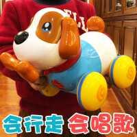 玩具狗狗走路��叫唱歌拉�狗�C器��有」�和�����男女孩一至二�q