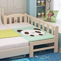 实木床婴儿床小床单人床公主床宝宝边床加宽拼接大床 其他 不带