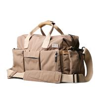 单肩斜挎包 帆布包男包 男士斜跨休闲包运动包 斜跨男包旅行包休闲包 卡其色