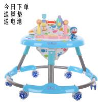 婴儿学步车带音乐多功能男宝宝学行车防侧翻可折叠学步车