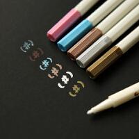 油漆笔 优质金属色笔 diy涂鸦黑卡纸专用相册笔 金银笔 记号笔