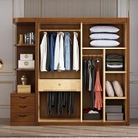 实木衣柜中式衣柜经济型3456门木质卧室衣橱现代简约 单门 组装
