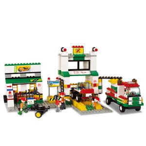 【当当自营】小鲁班模拟城市系列儿童益智拼装积木玩具 汽车维修站M38-B2500