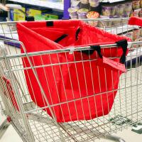 可折叠手推车超市环保购物袋--红色