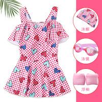 儿童分体泳衣女童中大童裙式可爱公主夏季幼儿女孩防晒游泳衣