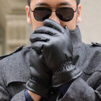 摩托车皮手套男士户外运动加厚加绒保暖手套防水防风骑车男大棉手套