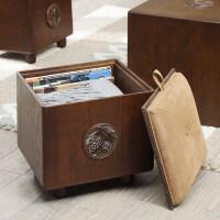 收纳凳子储物凳可坐家用实木玩具收纳箱换鞋凳 实木收纳凳换鞋凳 其他
