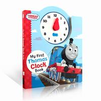 顺丰包邮 英文原版绘本 Thomas and Friends my first Thomas Clock Book小火