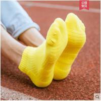 专业运动袜子缓冲减震跑步纯棉吸汗透气篮球袜男加厚毛圈防臭短袜
